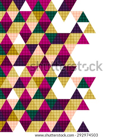 vector geometry triangle design, abstract polygon background