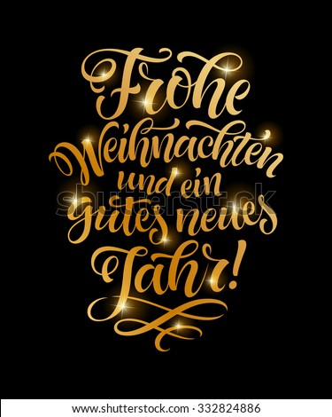 vector german merry christmas golden text stock vector. Black Bedroom Furniture Sets. Home Design Ideas