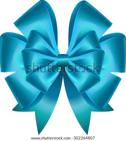 Vector gift bow. Vector illustration. Created with gradient mesh. Concept for invitation, banners, gift cards, congratulation or website layout vector.