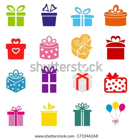 Vector Gift box icon - stock vector