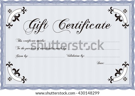Vector gift certificate template vector illustration stock vector vector gift certificate template vector illustration excellent complex design with complex linear background yelopaper Choice Image