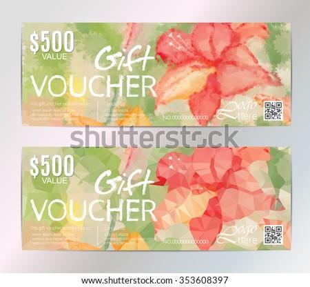 Conjunto de vouchers de Andriy Lipkan en Shutterstock – Voucher Card Template