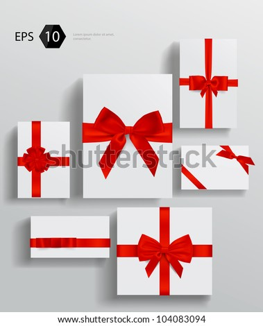 Vector gift wrapping collection - stock vector