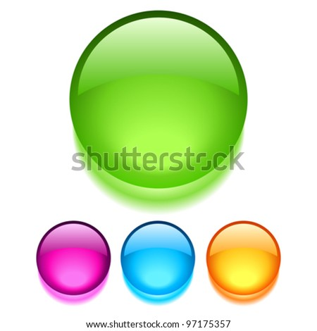 Vector glass buttons - stock vector