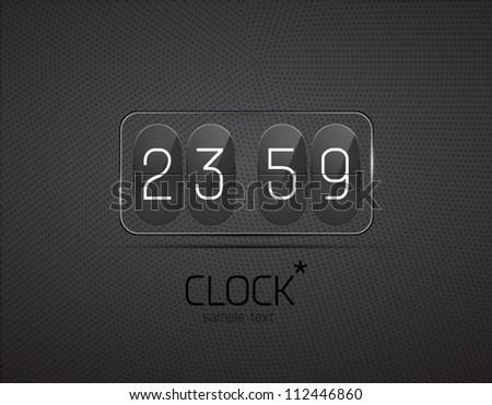 Vector glass clock - stock vector