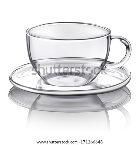 Vector glass cup