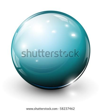 Vector glass sphere, ball - stock vector