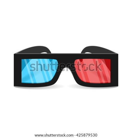 Vector glasses for 3d movie