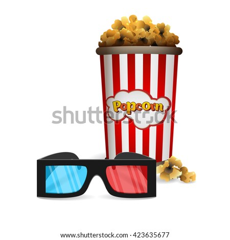 Vector glasses for 3D movies and popcorn
