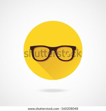 Vector Glasses Icon - stock vector