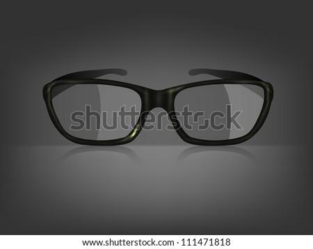 Vector glasses on black background. Eps 10 - stock vector
