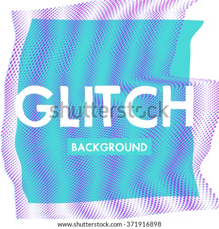Vector glitch background. Digital image data distortion. Corrupted image vector file. Colorful abstract background for your designs. Chaos aesthetics of signal error. Digital decay. - stock vector