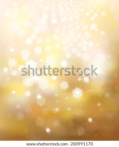 Vector glitter golden background.  - stock vector