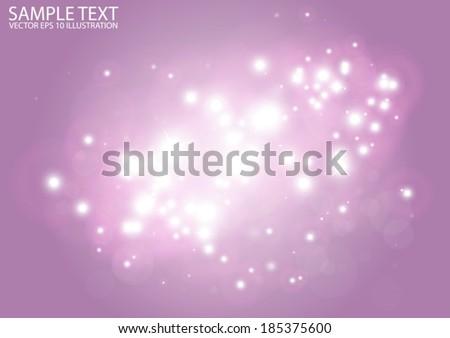 Vector glittering pink background shine - Vector pink lights background illustration - stock vector