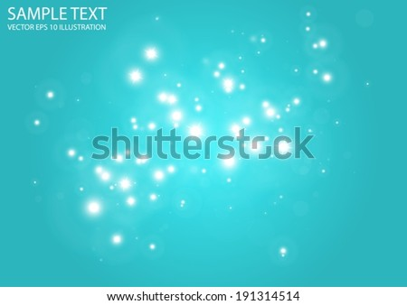 Vector glitters in blue background space shine - Vector blue  sparks background illustration - stock vector
