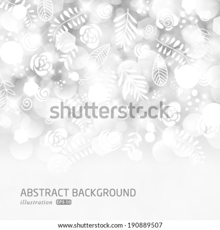 Vector glittery lights silver abstract holiday background.