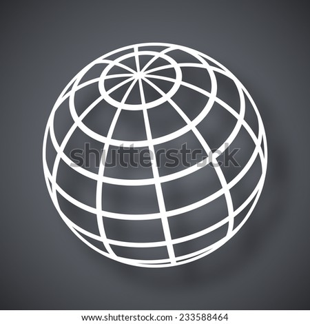 Vector global communications icon - stock vector