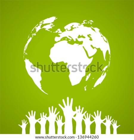 Vector global unity poster - stock vector