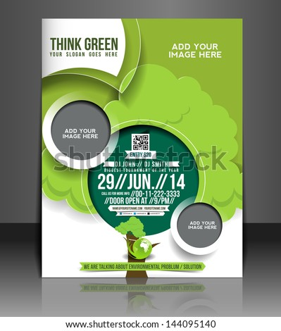 Vector Global Warming Brochure, Flyer, Magazine Cover & Poster Template - stock vector
