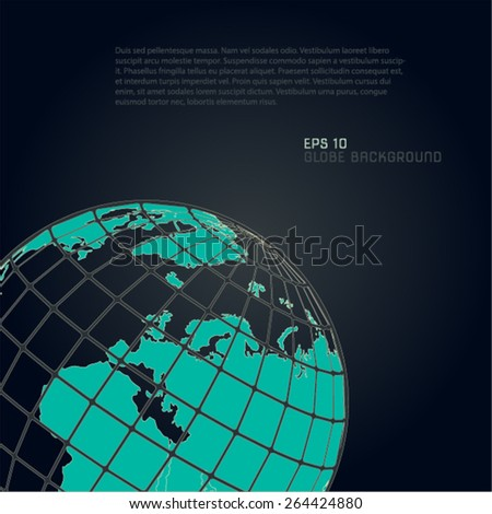 Vector globe background  - stock vector