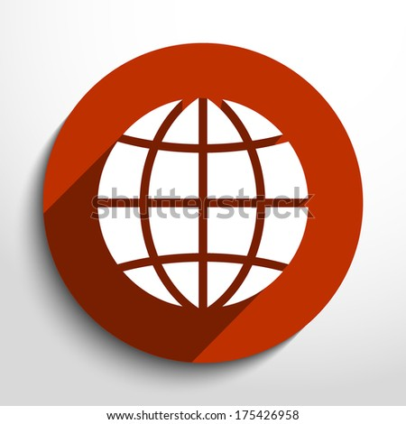 Vector globe icon background - stock vector