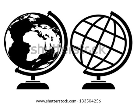 vector globe icons stock vector 133504256 shutterstock rh shutterstock com global icon vector globe icon vector illustrator