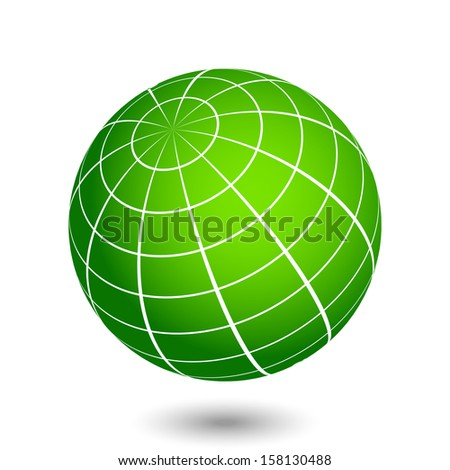 Vector globe illustration - stock vector