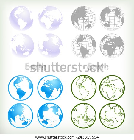 Vector Globes 4 graphic Styles