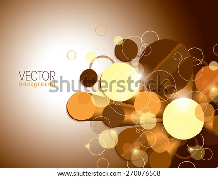 Vector Glossy Background with Orange Cylinders. - stock vector