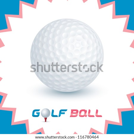 Vector Glossy Golf Ball Icons, Button, Sign, Symbol, Logo for Baby, Child, Children, Teenager, Family - stock vector