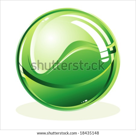 VECTOR Glossy isolated sphere - stock vector