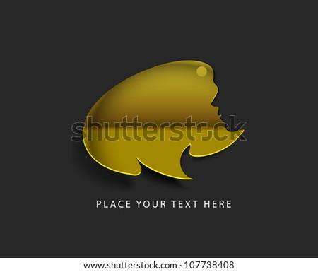vector glossy puzzle web golden icon design element. - stock vector
