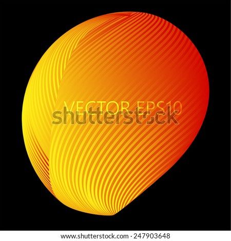 Vector Glossy Sphere. Abstract Background - stock vector
