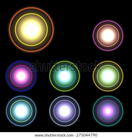 vector glowing lights, stars and sparkles 2 - stock vector