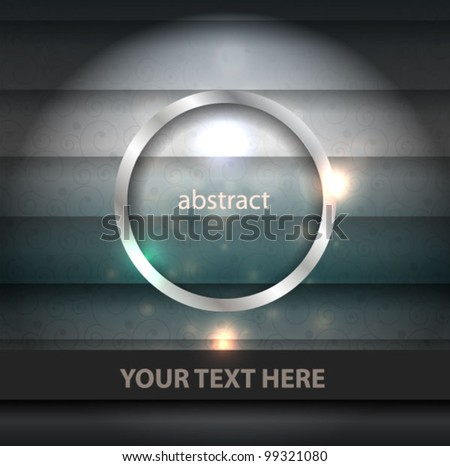Vector glowing luxury background with metal frame element