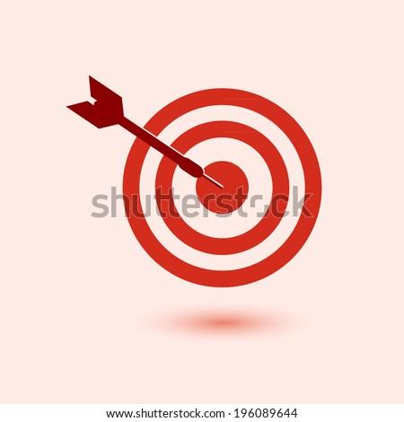 vector goal target - stock vector