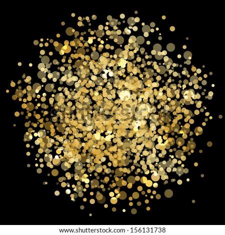 Vector gold blur - stock vector