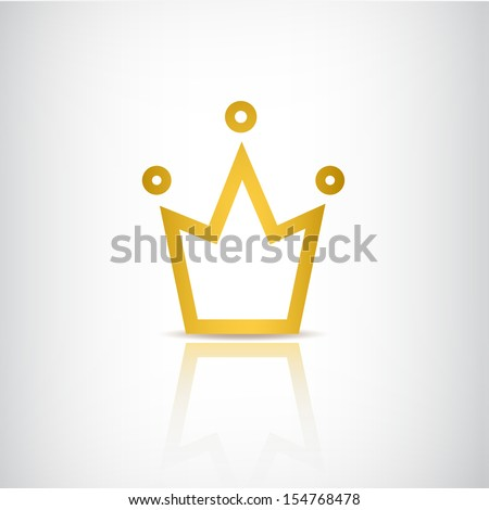 vector gold crown icon logo isolated - stock vector