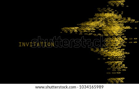 Vector Gold Dust Template Flyer Poster Stock Vector HD (Royalty Free ...