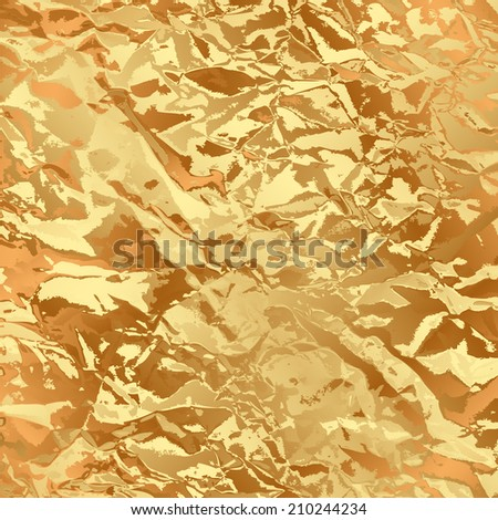Vector gold foil background - stock vector