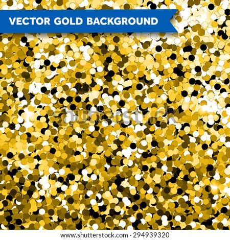 Vector Gold Glittering background - stock vector