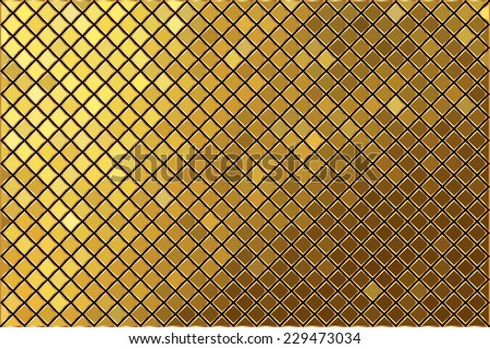 Vector gold mosaic background - stock vector
