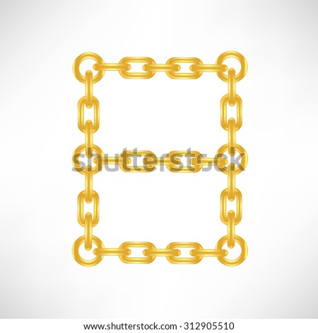 Vector Gold Number 8 Isolated on White Background