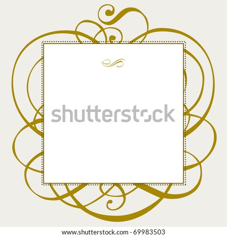 Vector gold ornaments and frame. Easy to edit. Perfect for invitations or announcements. - stock vector