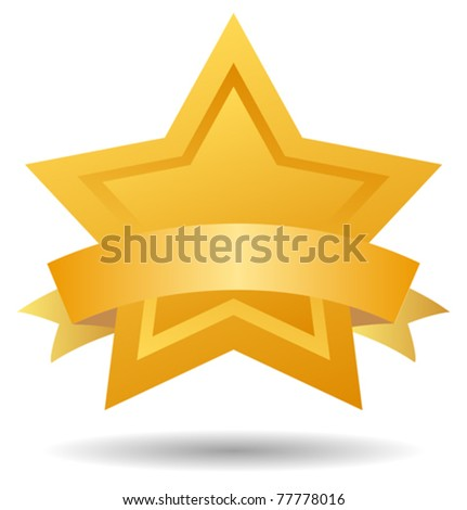 Vector gold quality mark - stock vector
