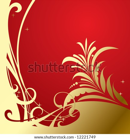 Vector gold-red classic background