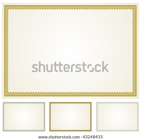 Vector Gold Silver and Bronze Frames - stock vector