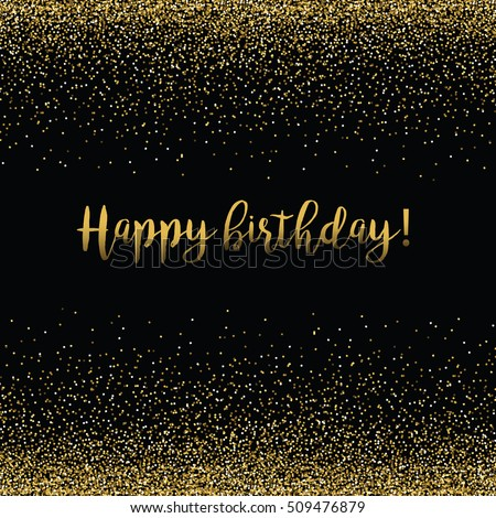 Vector gold text on black background stock vector 509476879 vector gold text on black background happy birthday lettering for invitation and greeting card stopboris Image collections