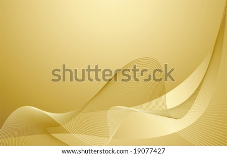 vector gold waves background
