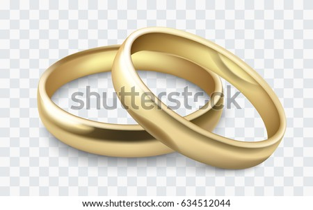 vector gold wedding rings isolated on white - Wedding Ring Images